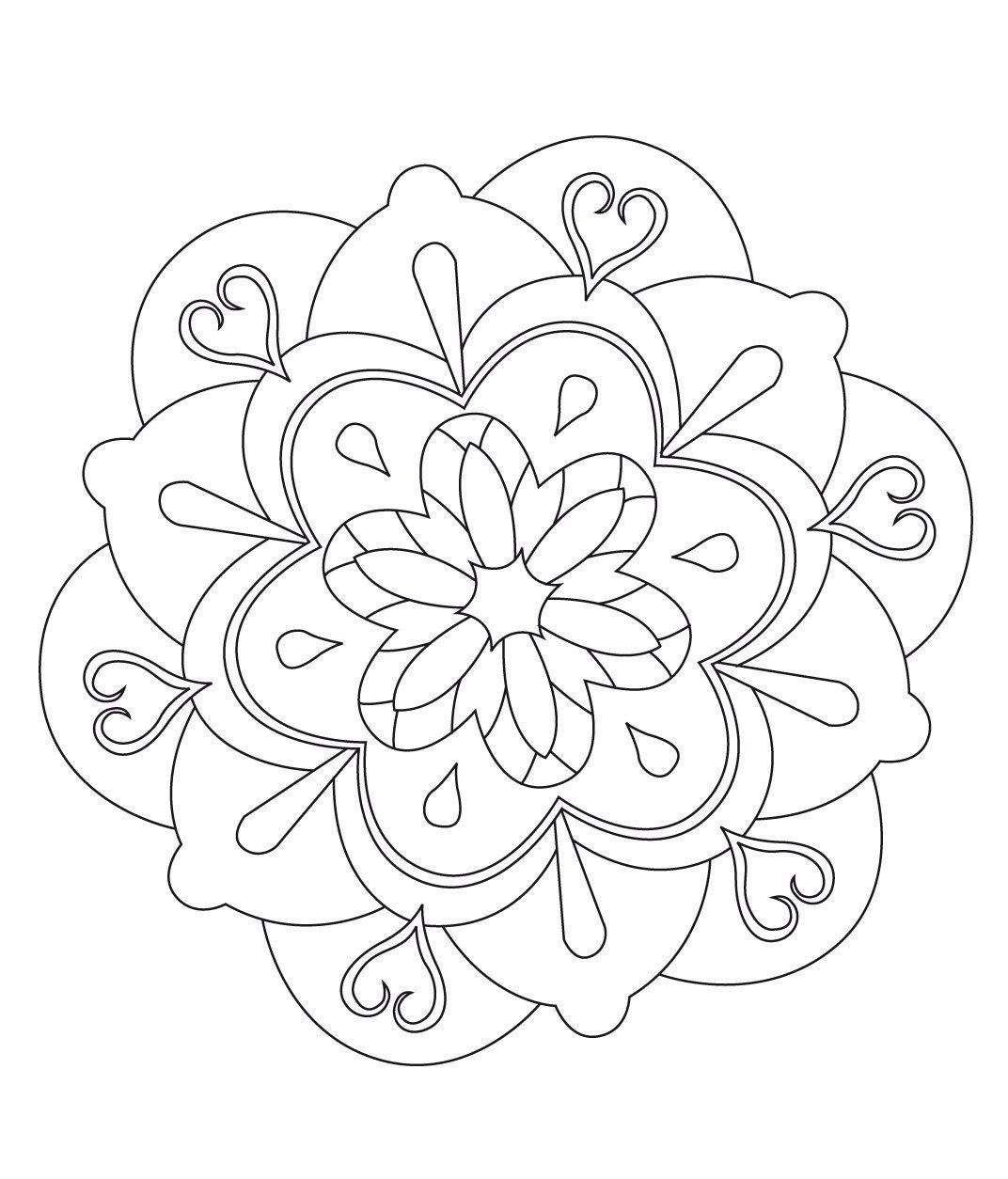 Stci coloriage pour adultes et enfants mandalas mandalas mandala coloring pages mandala - Mandala adulte ...