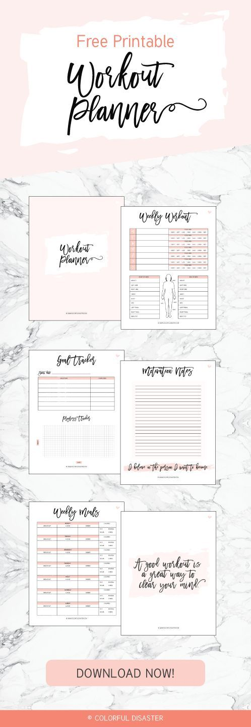 Workout Playlist + FREE Printable – Colorful Disaster ♡