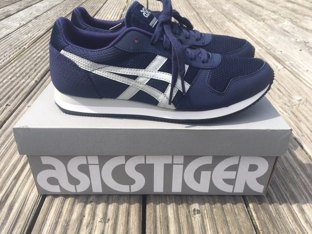 cd0e253887a87 Asics Tiger Curreo II Mens Trainers NEW BLUE Sneakers FAST FREE POST  ASICSTIGER | eBay