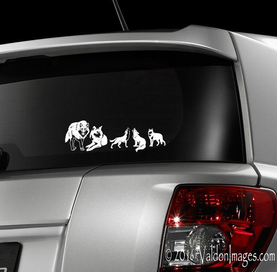 Wolf pack car decal laptop decal stick family by valdonimages cardecal laptopdecal laptopstickers