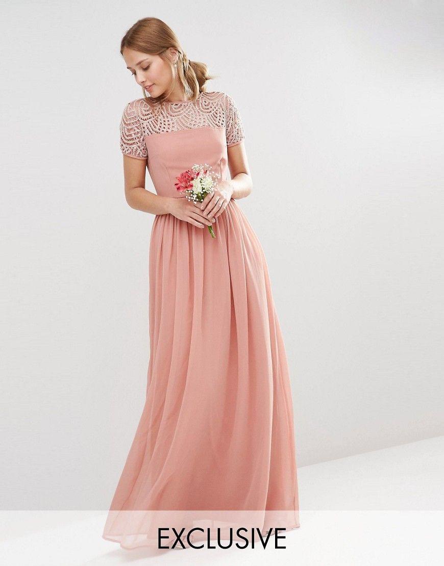 Pleated pink maxi dress | Style | Pinterest | Plisado, Vestido largo ...