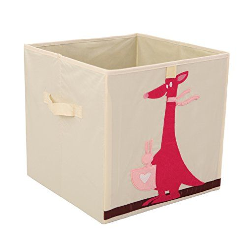 Murtoo Storage Bins Foldable Cube Box Fabric Toy Storage Cubes For Kids 13 L Fox Toy Storage Bins Kids Storage Boxes Toy Storage Boxes