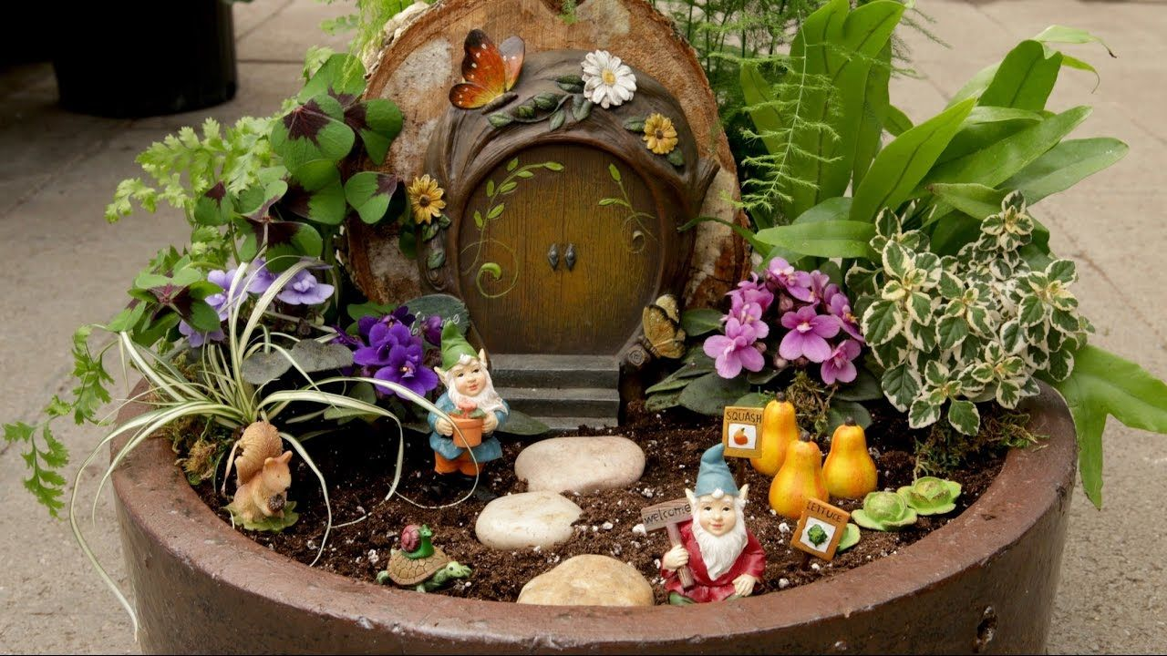 Miniature Gnome Garden // Garden Answer l Perfect for the little ...