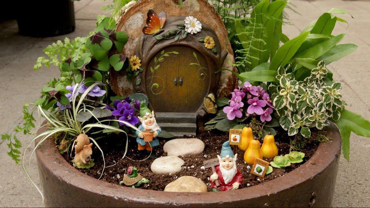 Miniature Gnome Garden Garden Answer L Perfect For The Little Ones Gnome Garden Fairy Garden Diy Mini Garden