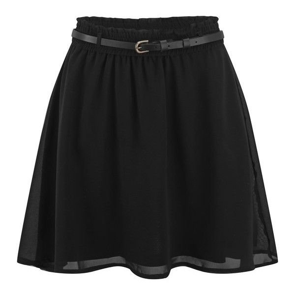 ONLY Women's Stardust Short Skirt (£9) ❤ liked on Polyvore featuring skirts, mini skirts, bottoms, black, mini skirt, mid thigh skirt, short mini skirts, elastic waist skirt and short skirts