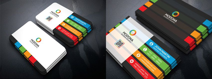 colorful psd business card bundle business cards pinterest