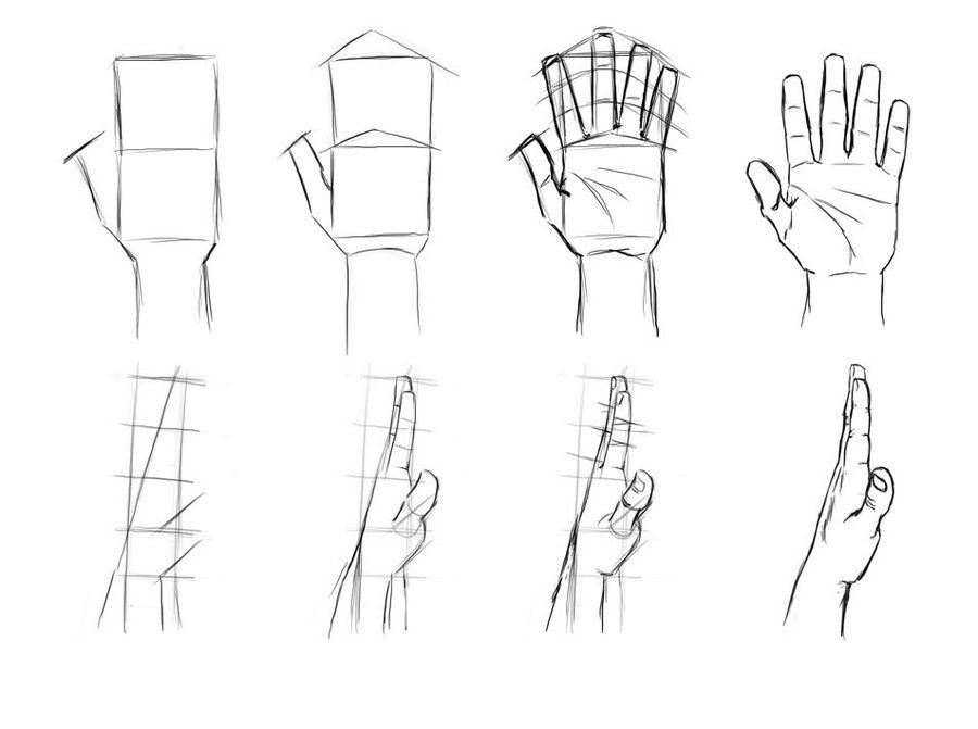 the hand is one of the hardest parts to draw in the human body