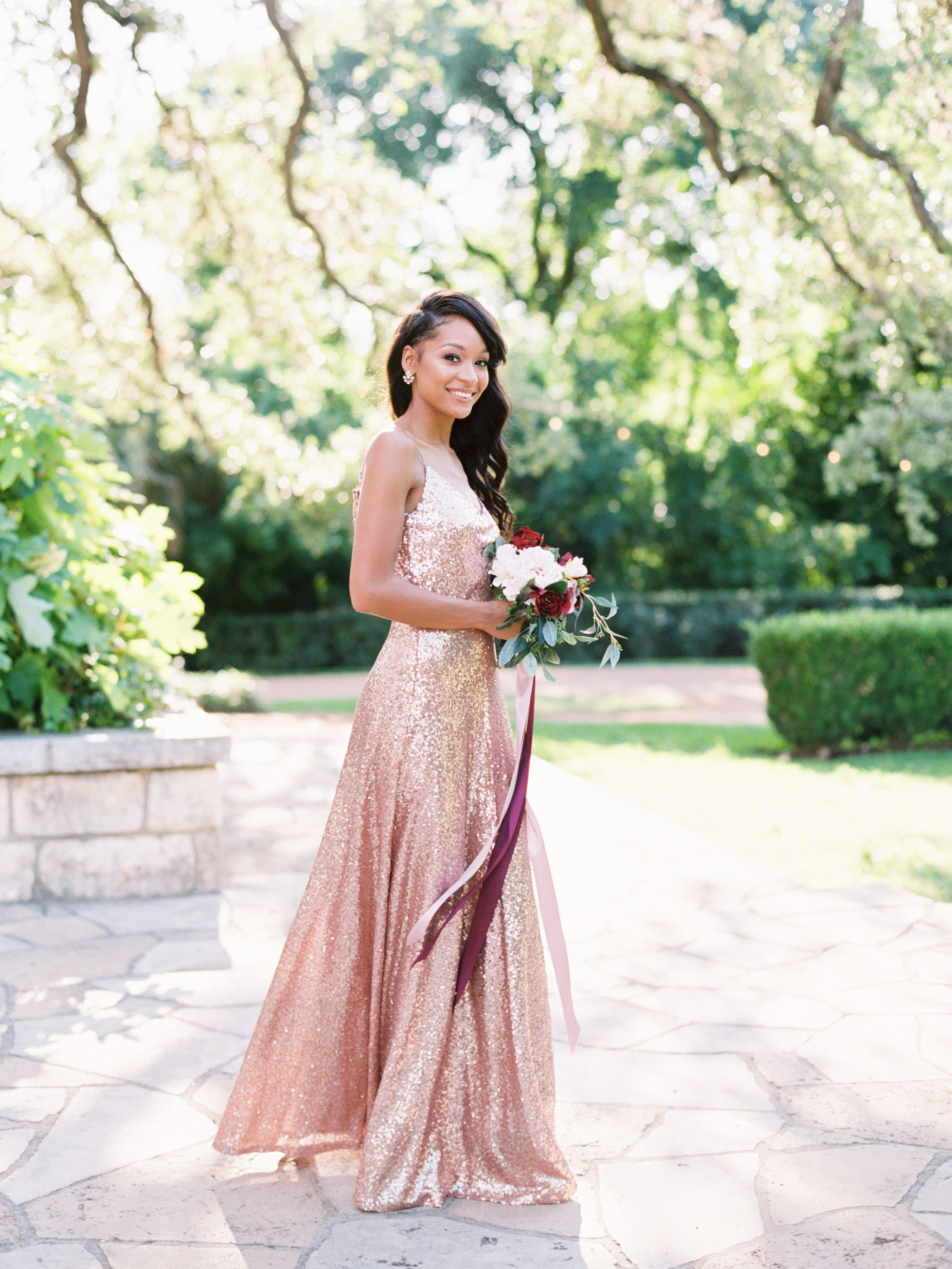 Have your bridesmaids make a statement this fall with beautiful rose