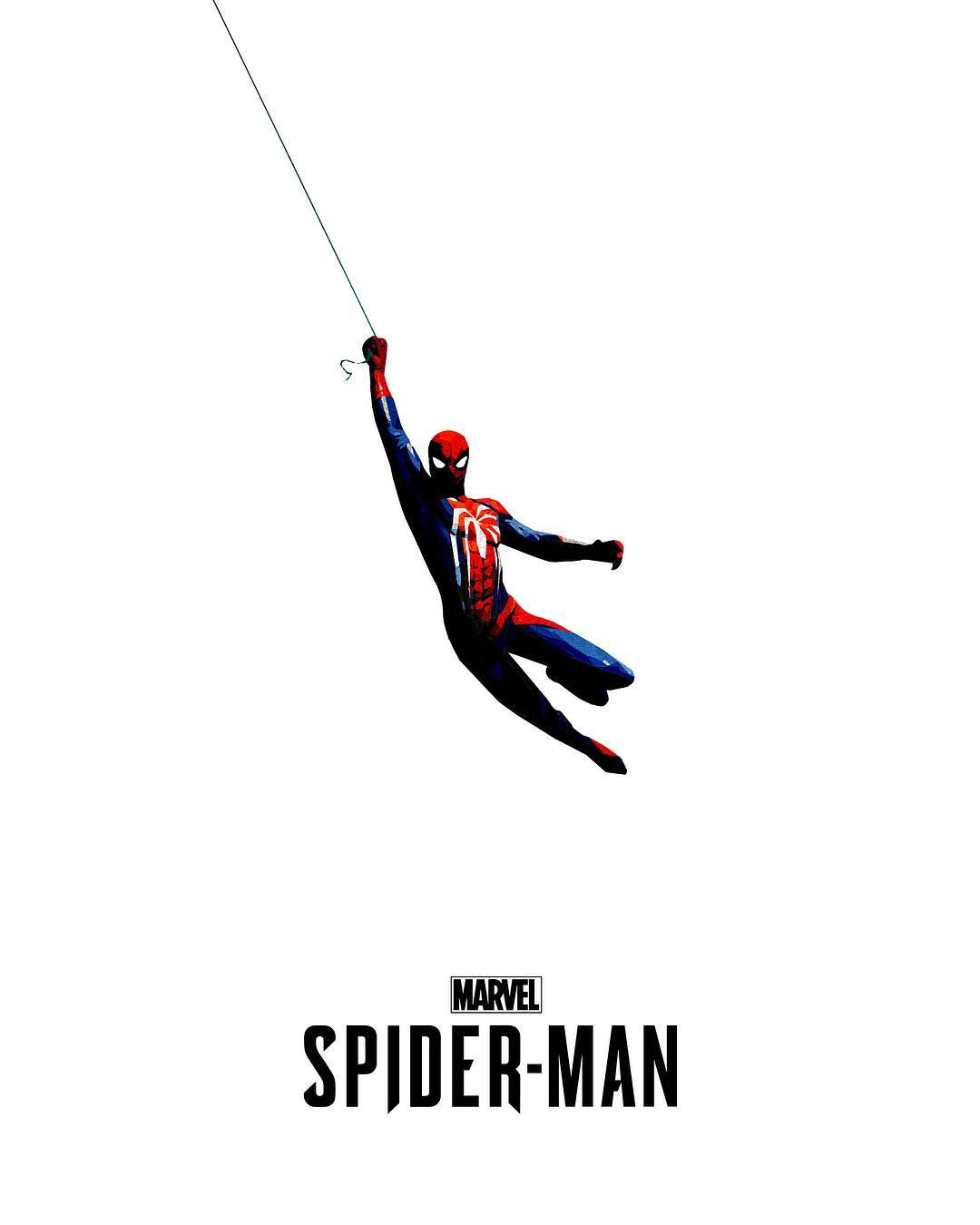 inimal poster for the upcoming Spider-Man game by