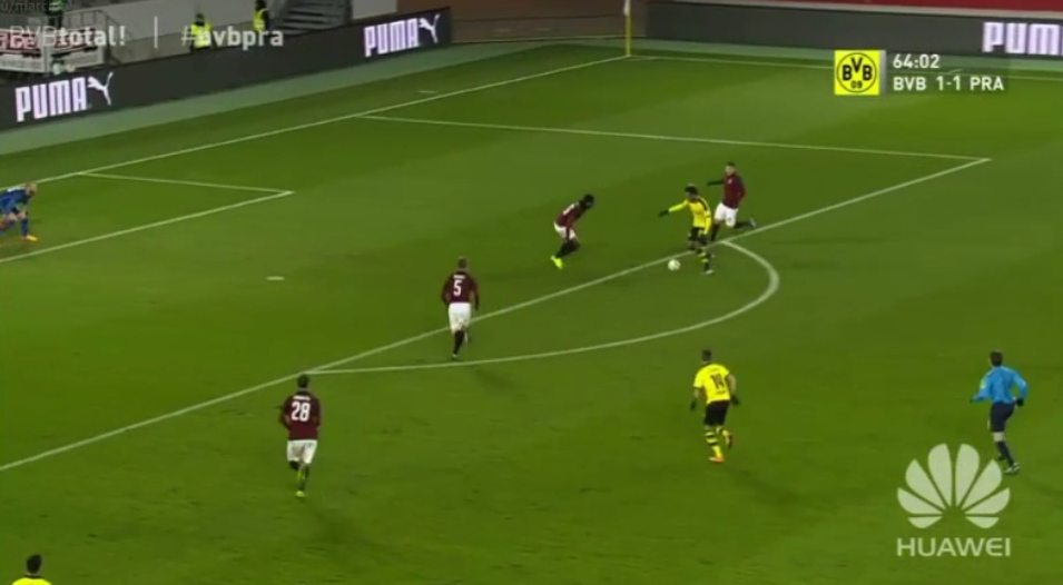 Dortmund striker Pierre-Emerick Aubameyang scores in friendly vs Sparta Prague (Video)