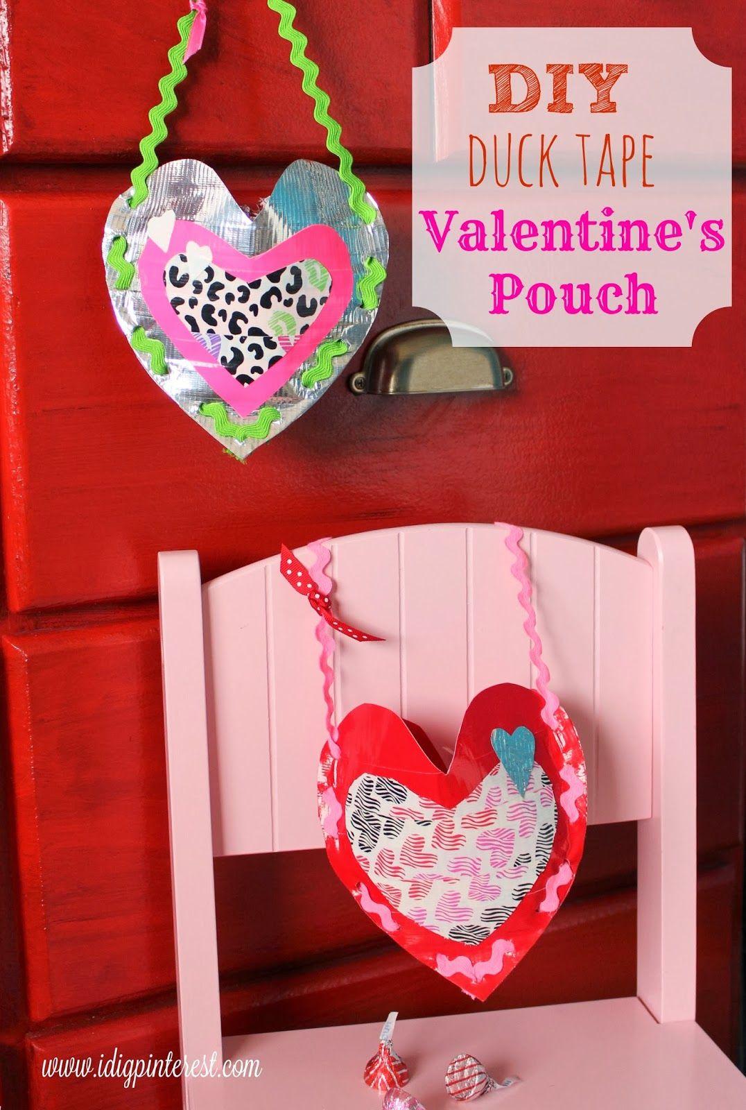DIY Duck Tape Valentine's Treasure Pouch and Kids' Cupid Tradition #DuckValentine