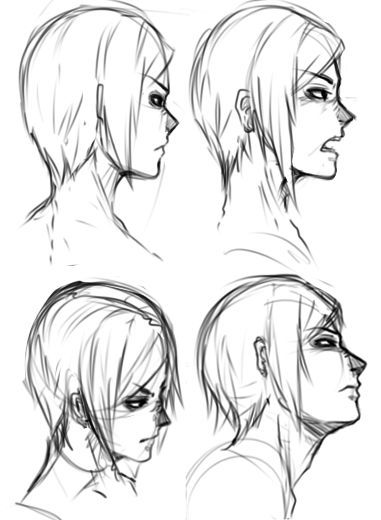 image result for vicious expression side profile anime drawing