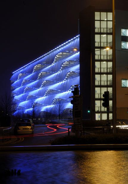 Pin By Ajeng Setyo On Bwh Cardiff Bay Facade Lighting