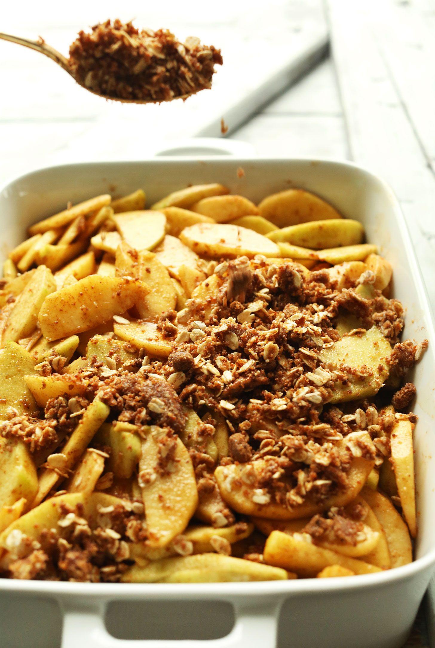 Best Vegan Apple Crisp Minimalist Baker Recipes Recipe Vegan Apple Crisp Apple Crisp Recipes