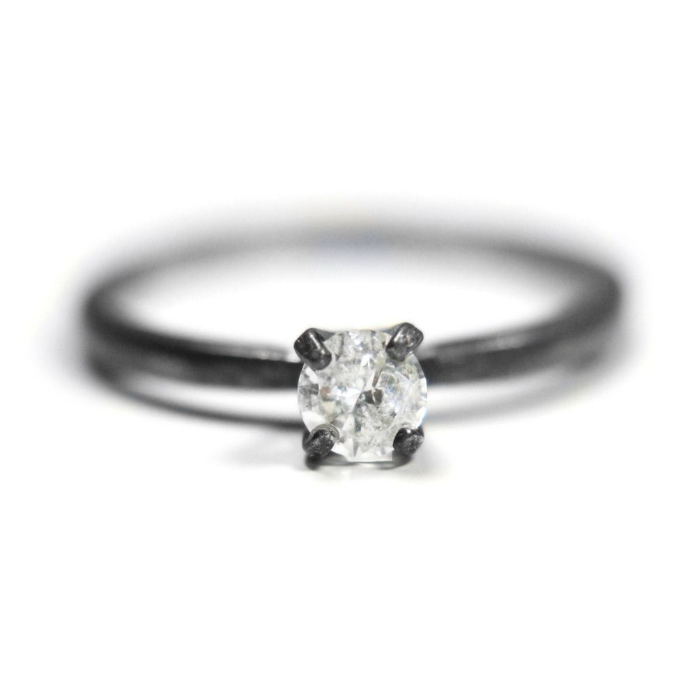 Custom Made Genuine Diamond Solitaire By Urban Aviary