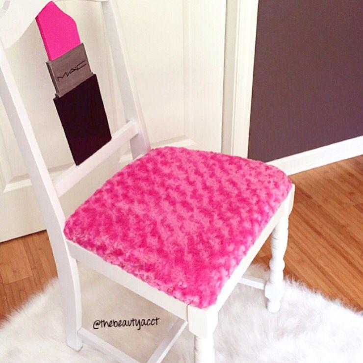 Lipstick Vanity Chair DIY Http://thebeautyacct.blogspot.com/?m