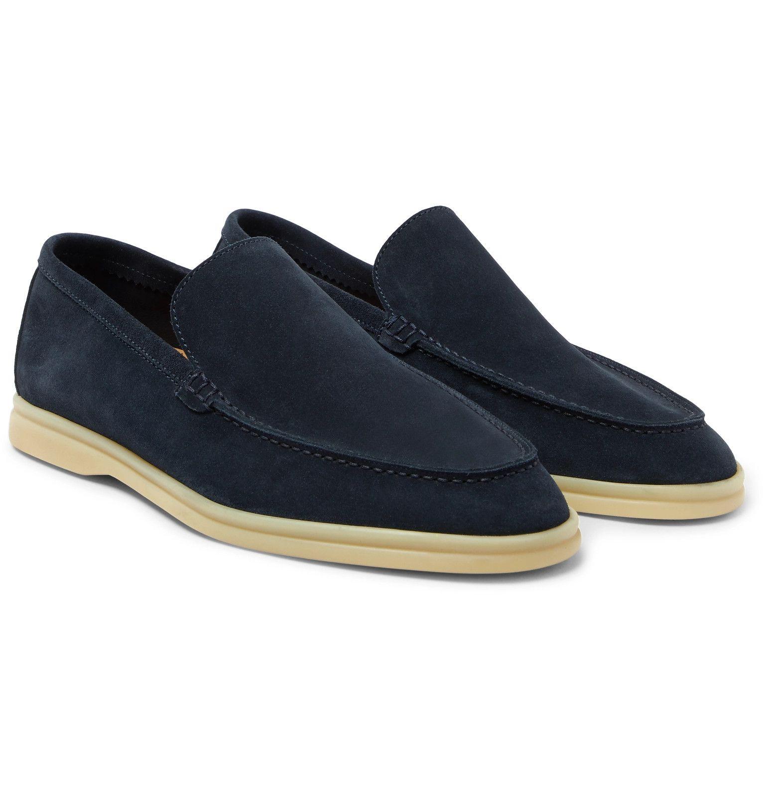 Navy Summer Walk Suede Loafers | Loro