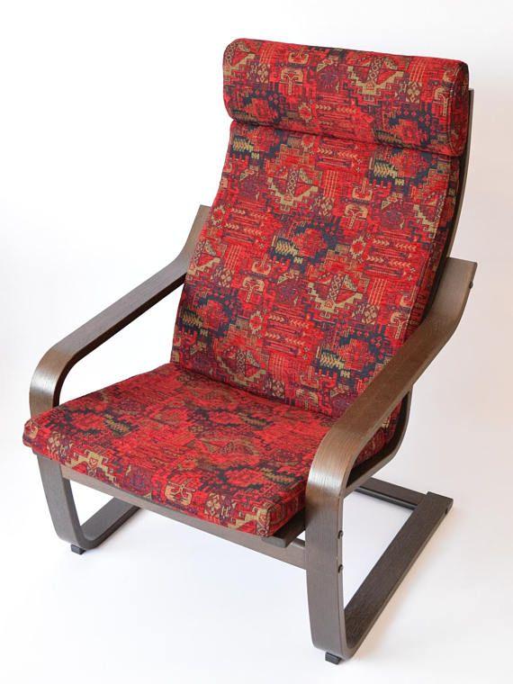 Peachy Kilim Pattern Fabric Ikea Poang Chair Cushion Custom Cover Evergreenethics Interior Chair Design Evergreenethicsorg