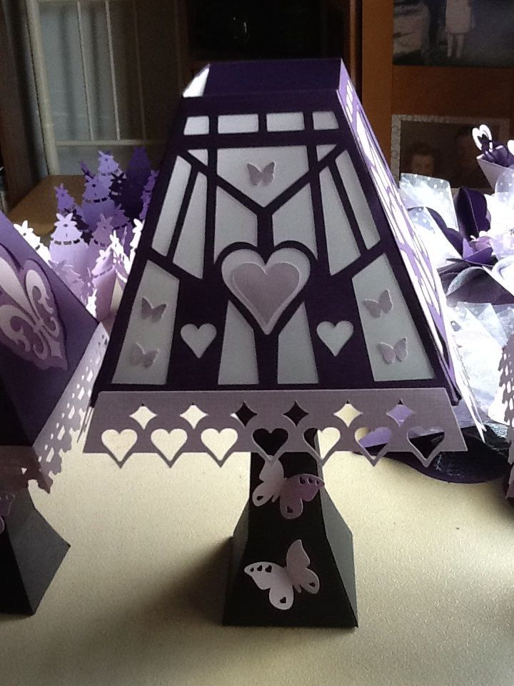 Lamp from SVG Cuts, modified for wedding.