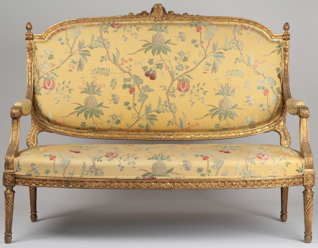 Antike Sofas Xvi French Louis Xvi Style Carved And Gilded Antique Settee Sofa