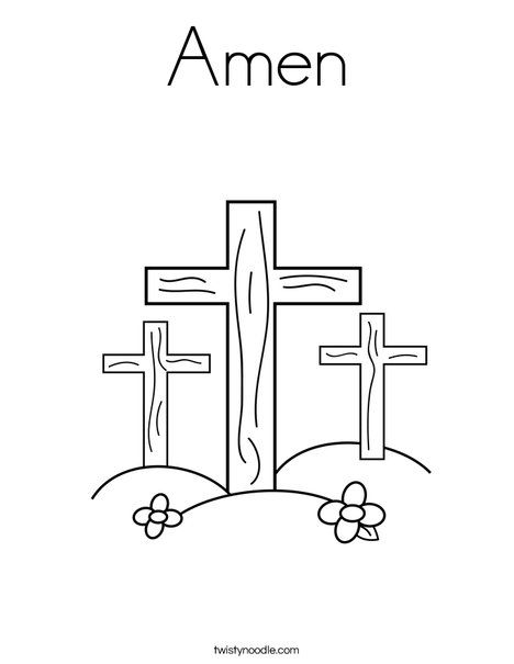 Amen Coloring Page Twisty Noodle Easter Coloring Pages Easter