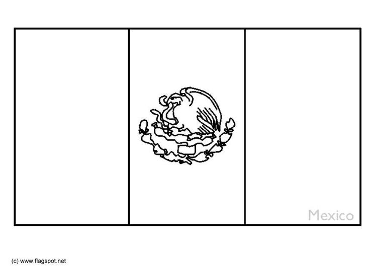 Coloring Page Flag Mexico Mexican Flags Flag Coloring Pages