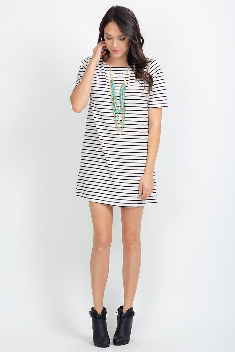 Not So Typical Dress the perfect black and white striped