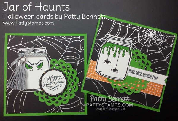 2 of each 4 cards Happy Halloween cards packet