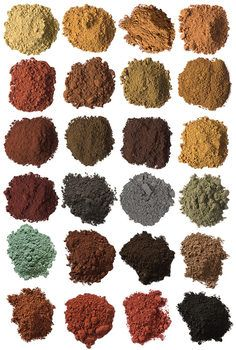 Complete Earth And Ocher Pigment Set Earth Colour Palette