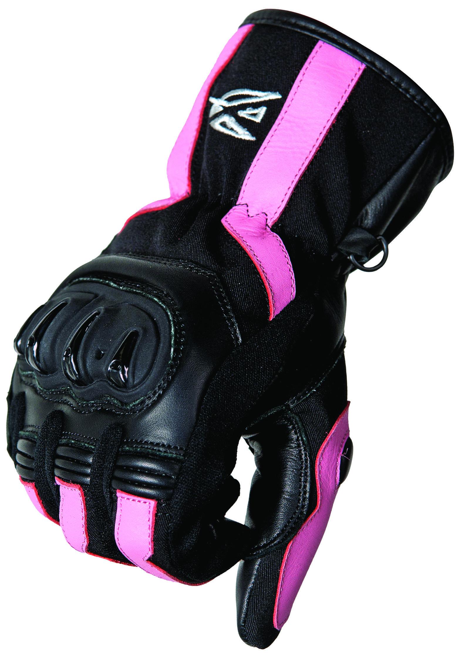 AGVSPORT Esprit Ladies Glove (Black, Pink) Mid length