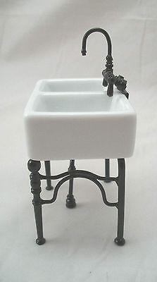 Dollhouse Kitchen Sink Kitchen sink small 17424 dollhouse miniature furniture porcelain kitchen sink small 1 742 4 dollhouse miniature workwithnaturefo