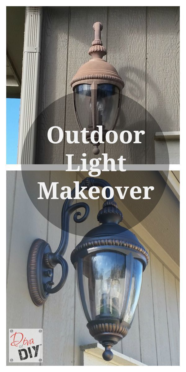 Donu0027t throw away those faded outdoor lighting fixtures. Add instant curb appeal with this outdoor light makeover. Quick and Easy outdoor lighting DIY! & Update Your Outdoor Lighting with this Easy DIY Outdoor Light ...
