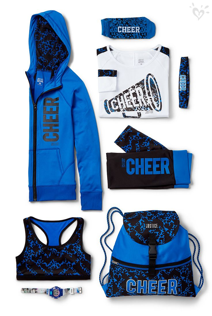 Three Cheers For Made To Match Leggings Tees And Much More Cheer Outfits Justice Clothing Outfits Cheerleading Outfits
