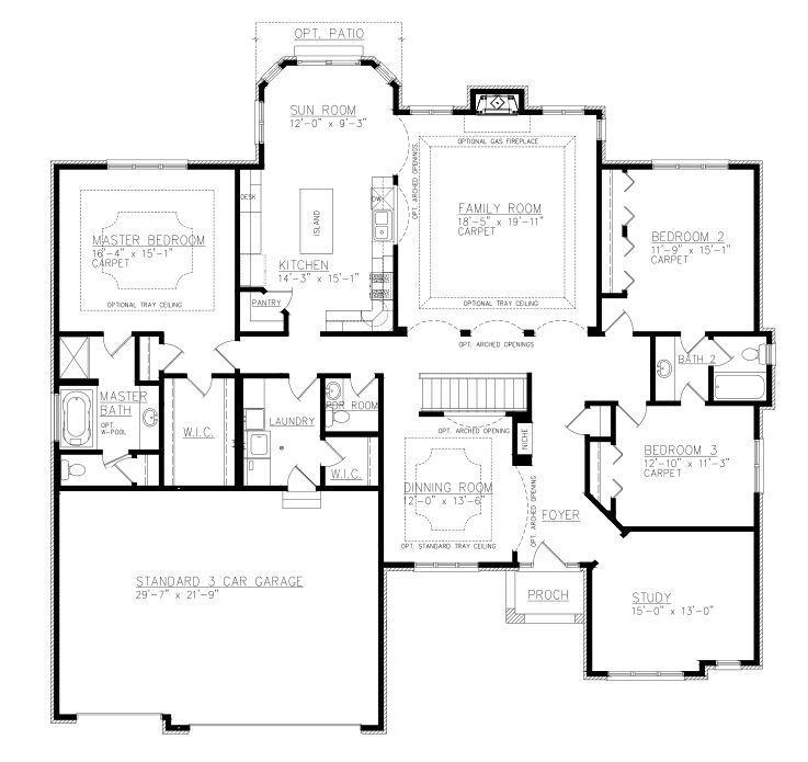 3 Bed Floor Plan Jack And Jill Bathroom Bathroom Floor Plans Ranch House Plans