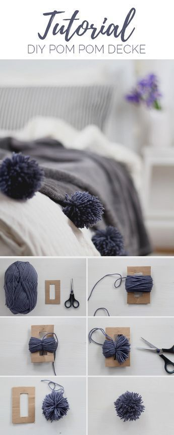 diy decke mit pompons selber machen napad. Black Bedroom Furniture Sets. Home Design Ideas