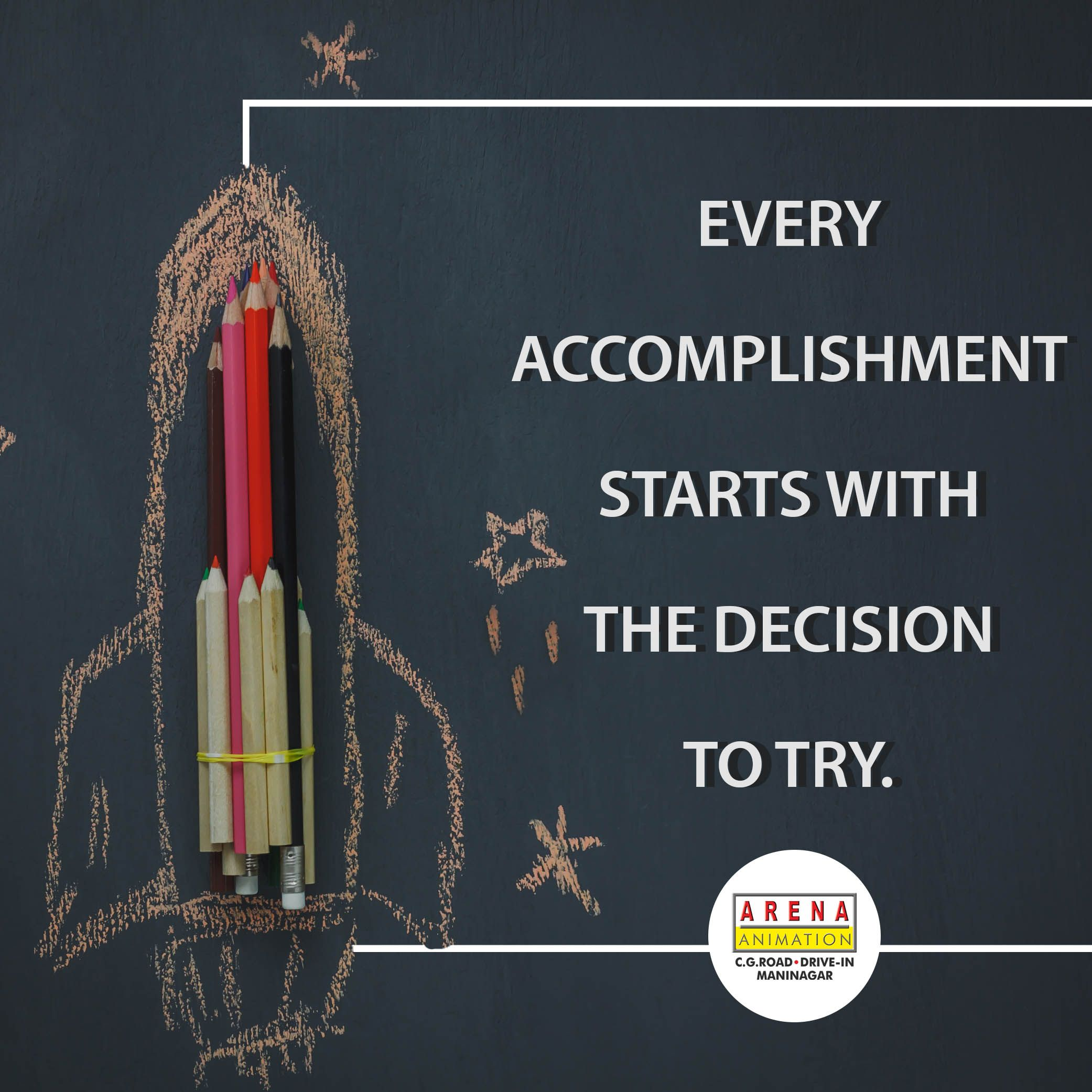 Mondaymotivation Every Accomplishment Starts With The Decision To Try Quoteoftheday Positivevib Web Design Course Animation Institute Graphic Design Course