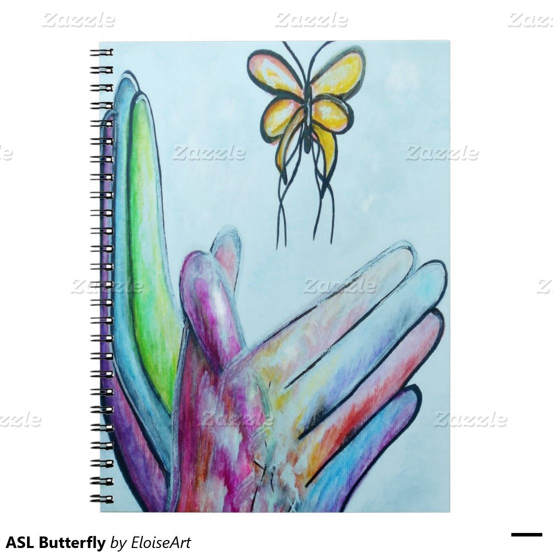 ASL Butterfly Spiral Notebooks