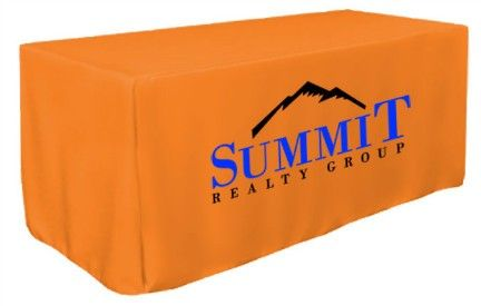 $165  6' Full Color Front Panel Imprinted Table Cover- Fitted Style