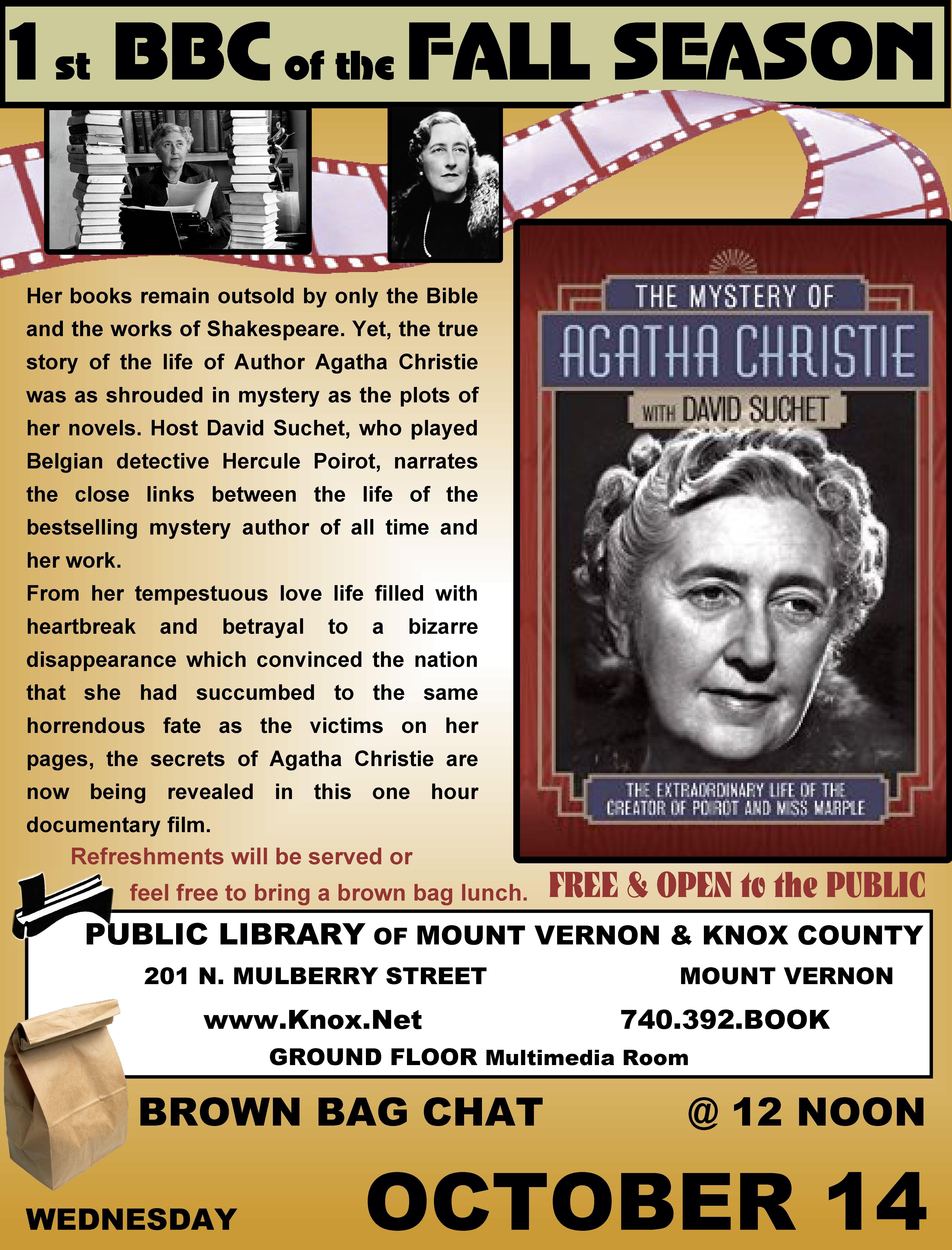 BBC @PLMVKC  The Mystery of Agatha Christie with David