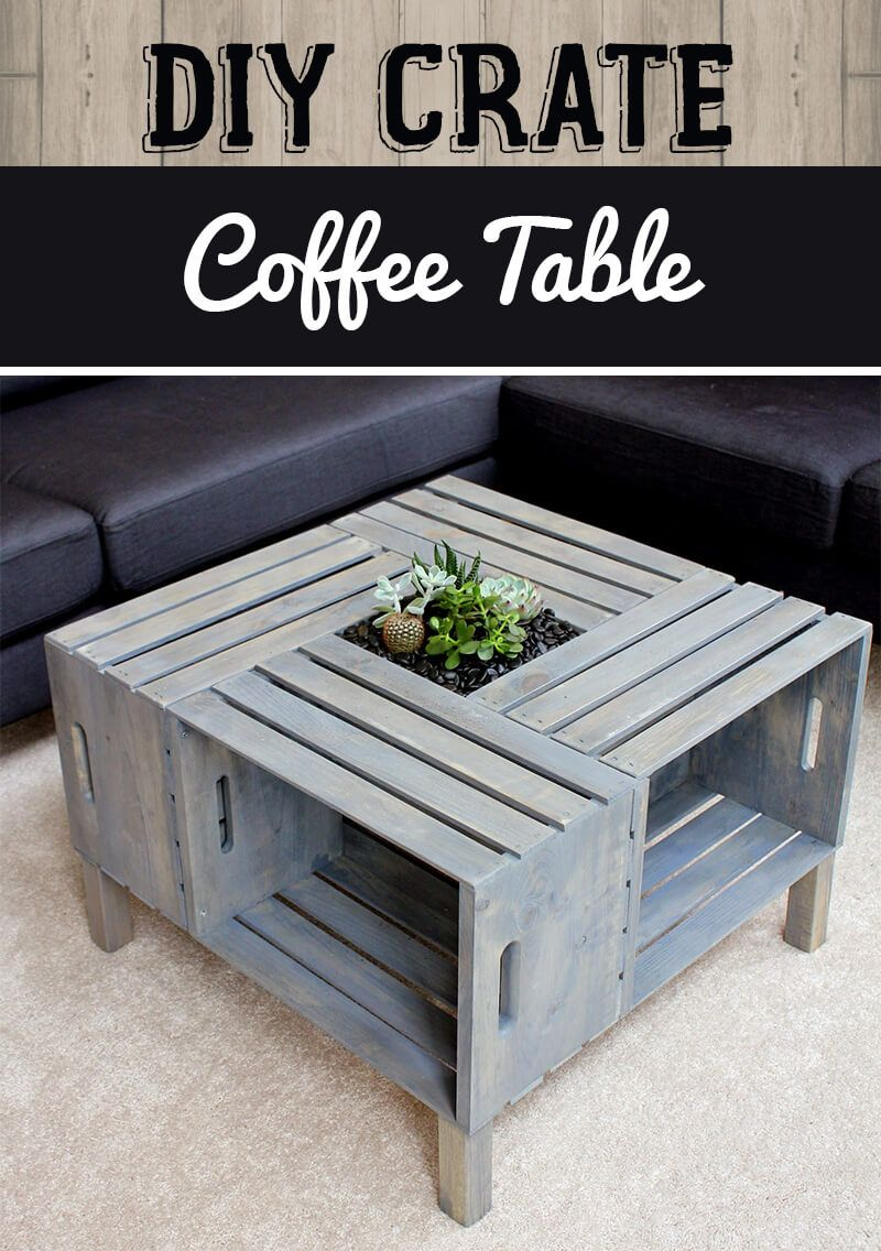 Photo of Four Crate Coffee Table and Planter