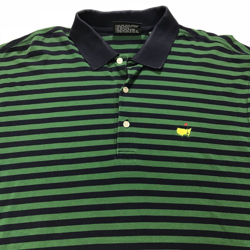 Master/'s Collection Men/'s Size Large Green Golf Polo Shirt