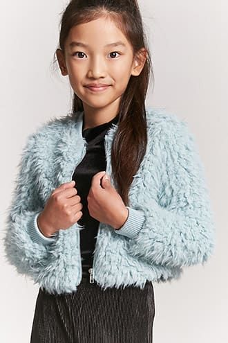 c1d20e362671 Girls Shaggy Faux Fur Jacket (Kids) | Products | Faux fur jacket ...