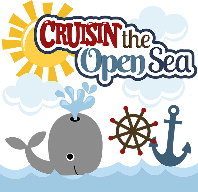 Cruisin' The Open Sea SVG Scrapbook Collection whale svg