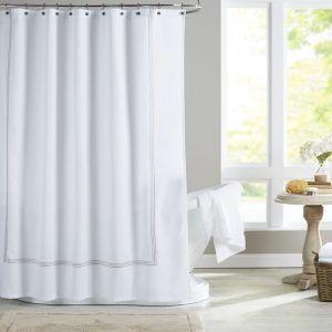Ballard Designs Monogrammed Shower Curtain