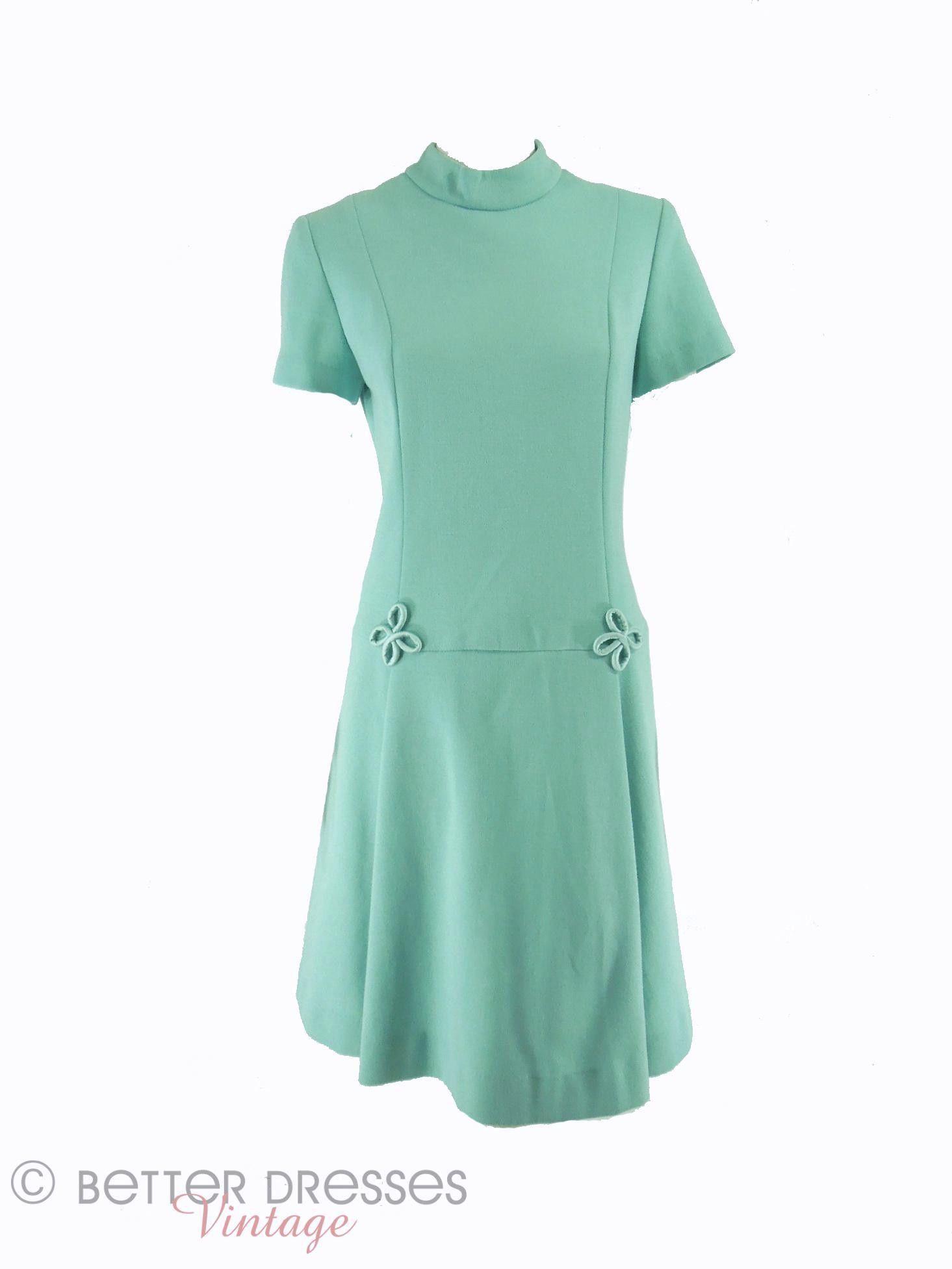 60s Aqua Shift Dress Shift Dress 1960s Outfits Clothes [ 1953 x 1465 Pixel ]