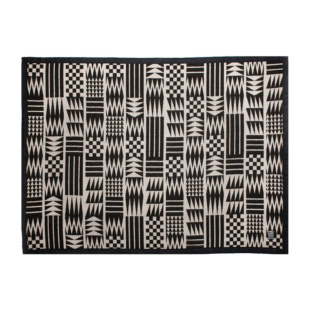 Nooksack designed Salish Pattern wool blanket by Eighth Generation and Native artist Louie Gong