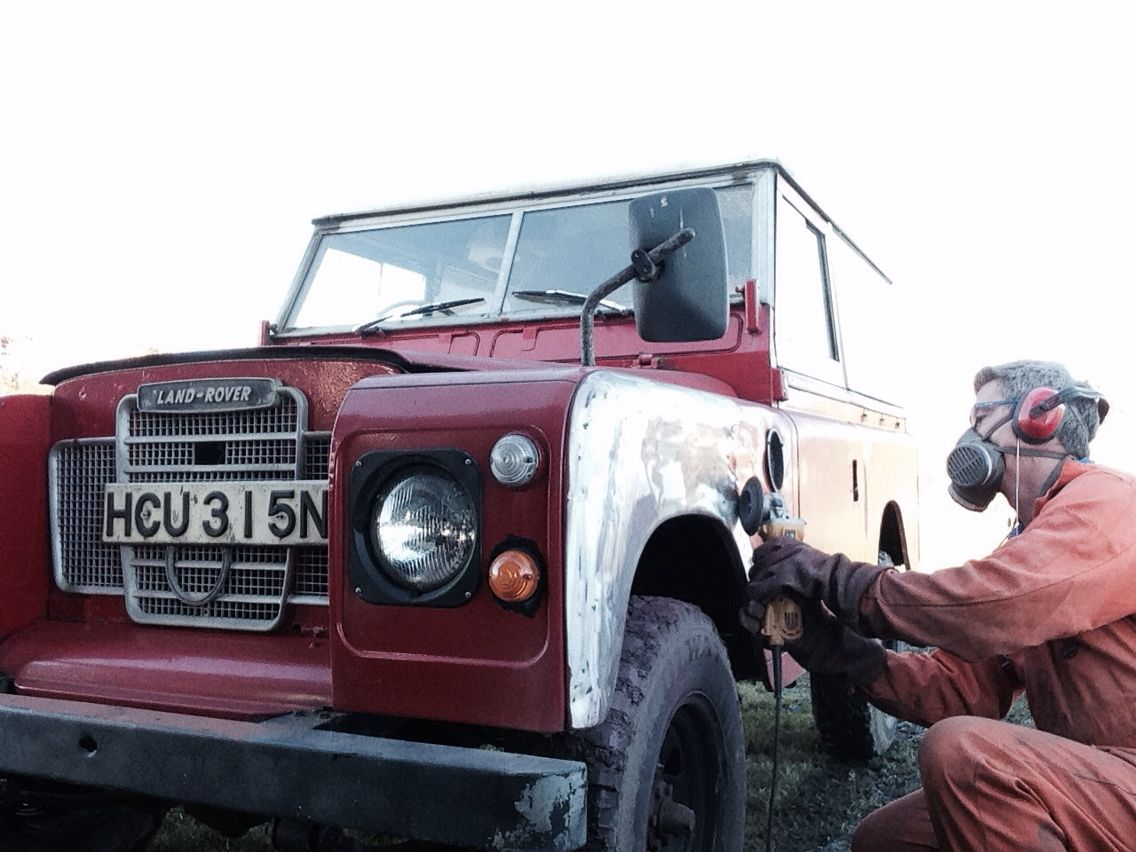 Paint stripping land rover series 3