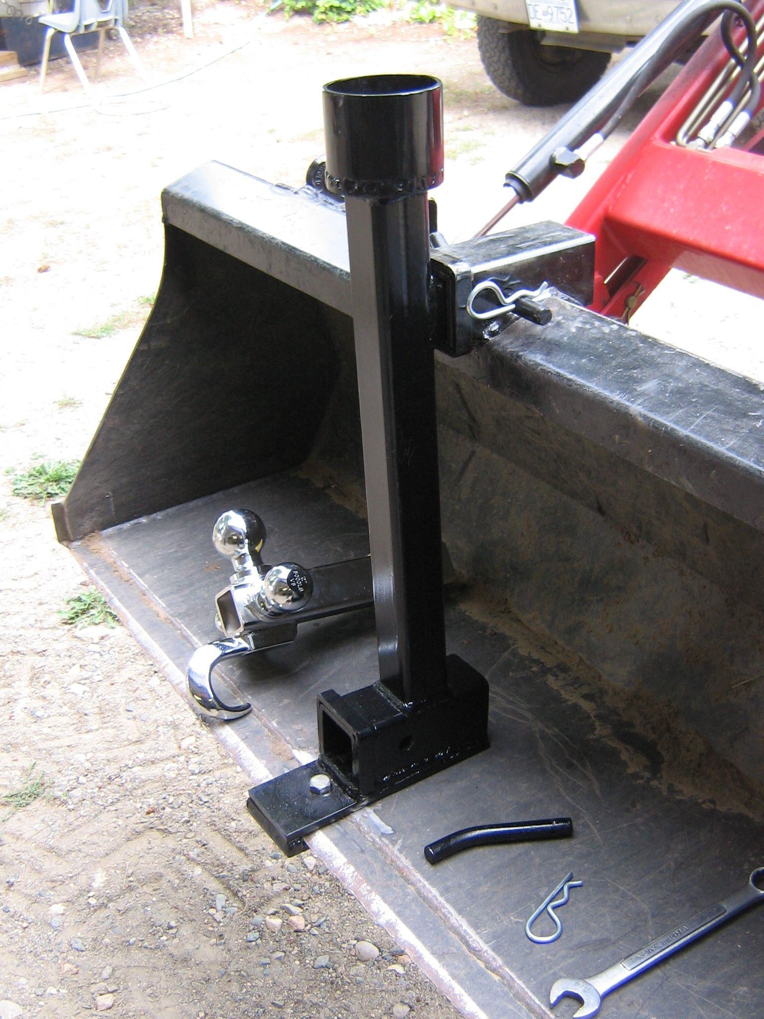Homemade Tractor Bucket Level Indicator - Year of Clean Water