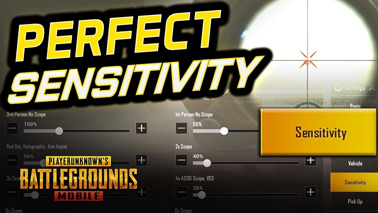 Highly Requested Perfect Sensitivity Tips Pubg Mobile