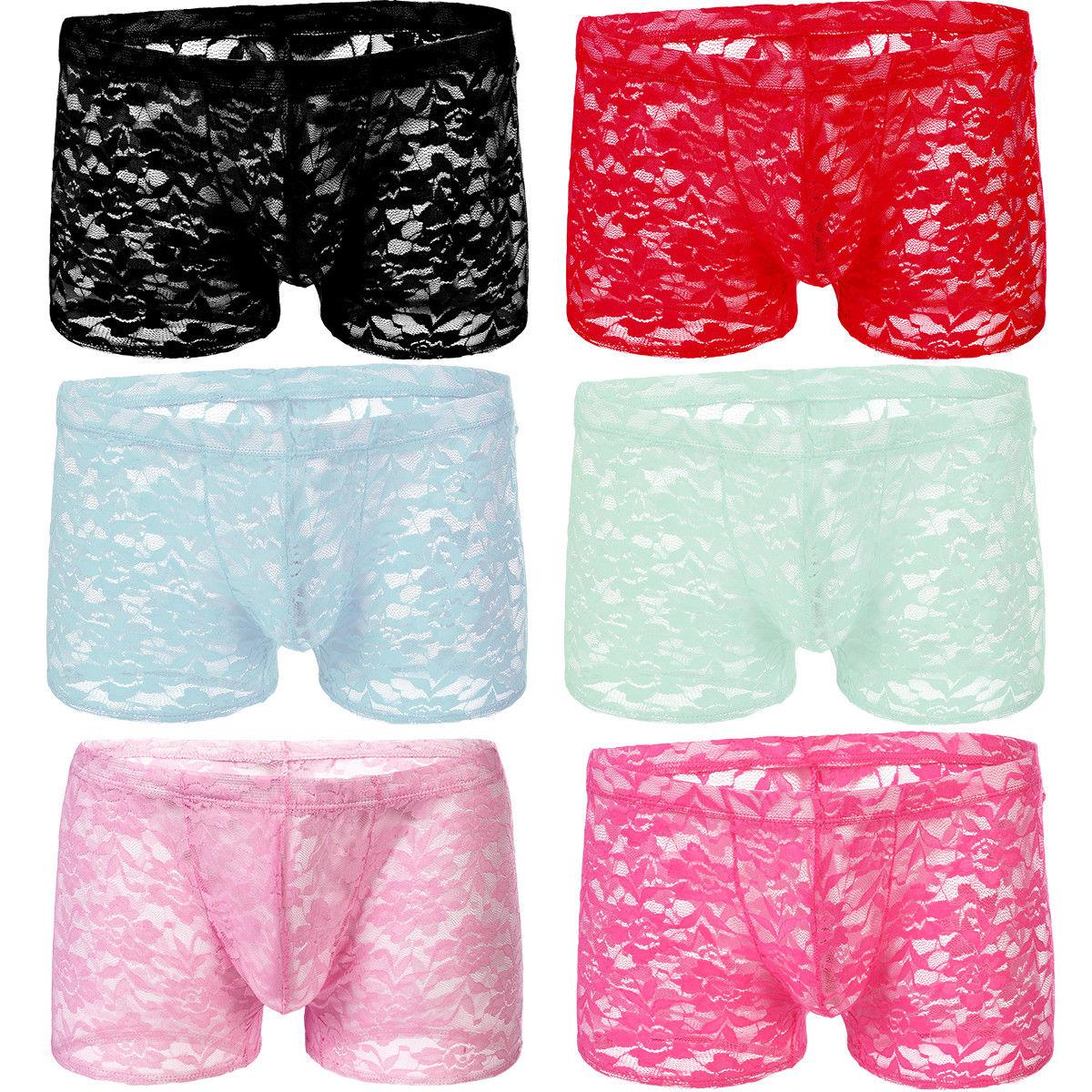 Men Boxer Briefs Sissy Nightwear Underwear Underpants Lingerie Pants Trunks New